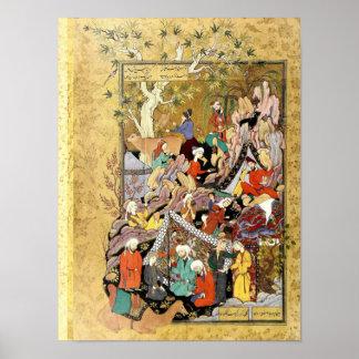 Poster Miniature persane : Premiers aperçus Layla de Qays