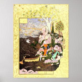 Poster Miniature persane : Salaman et Absal