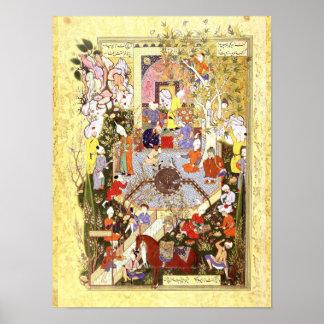 Poster Miniature persane : Un père conseille son fils
