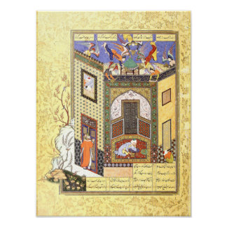 Poster Miniature persane : Une vision des anges