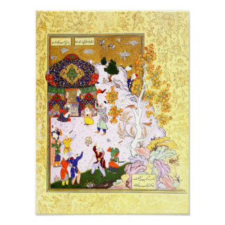 Poster Miniature persane : Vol de la tortue