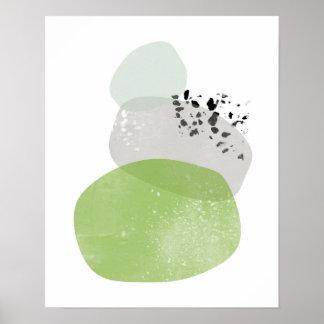 Poster Minimal, Scandinavie, affiche abstraite de verdure