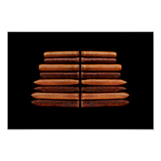 Poster Minimalisme cubain de tabac de cigare