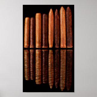 Poster Minimalisme noir des cigares VIP de Habana de
