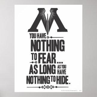 Poster Ministère du charme | de Harry Potter de la