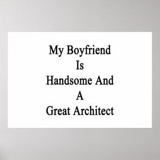 Poster Mon ami est beau et un grand architecte