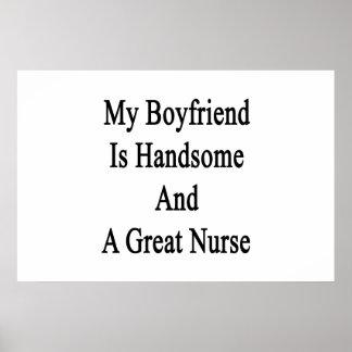 Poster Mon ami est beau et une grande infirmière