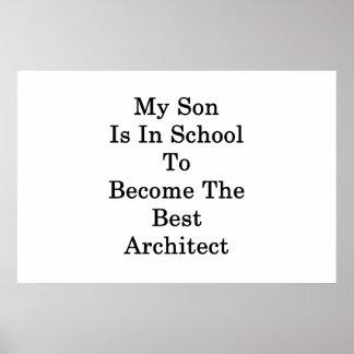 Poster Mon fils est à l'école à devenir le meilleur