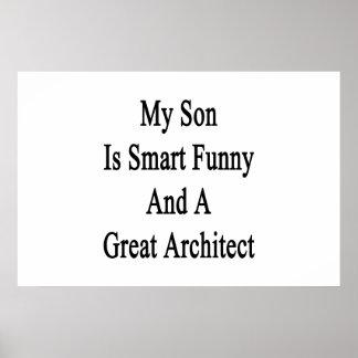 Poster Mon fils est drôle futé et un grand architecte