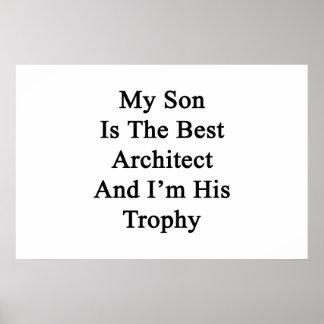 Poster Mon fils est le meilleur architecte et je suis son