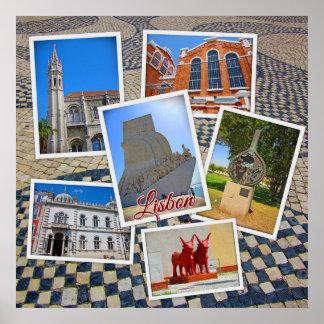 Poster Monastère de Lisbonne Jeronimos et monument de