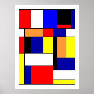 Poster Mondrian #1