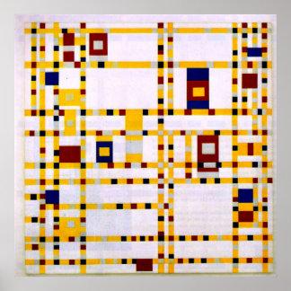 Poster Mondrian - boogie Woogie de Broadway