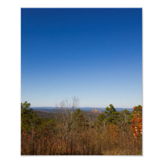 Poster Montagne bifurquée, Arkansas