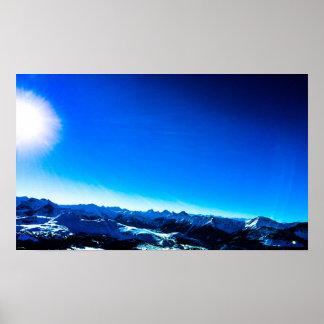 Poster Montagne bleue