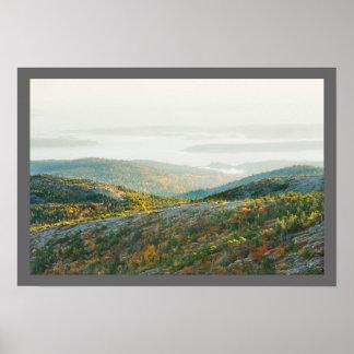 Poster Montagne de Cadillac dans l'automne, parc national