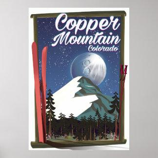 Poster Montagne d'en cuivre d'affiche de voyage du