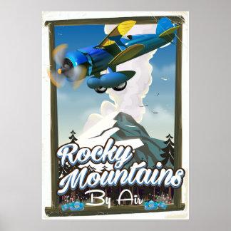 Poster Montagnes rocheuses par avion !