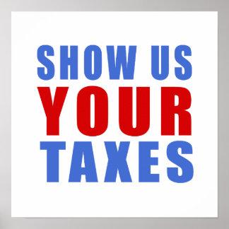 Poster Montrez-nous vos impôts