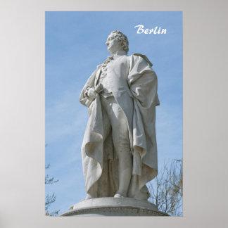 Poster Monument de Johann Wolfgang von Goethe à Berlin