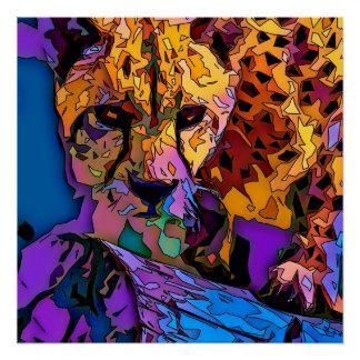 Poster Mosaïque Cheeta