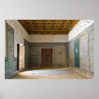 """Poster Mosaïque de la """"Chambre de Pilate"""" en Séville"""