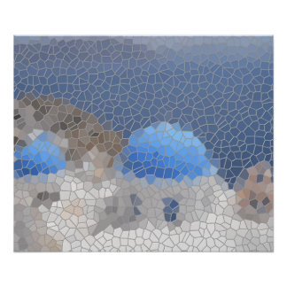 Poster Mosaïque de Santorini