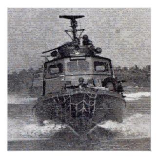 Poster Mosaïque rapide de photo de bateau