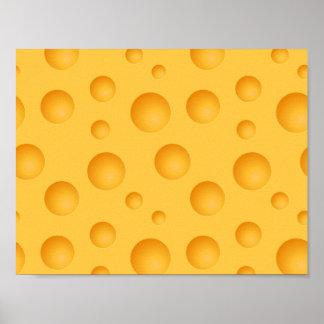 Poster Motif jaune de fromage