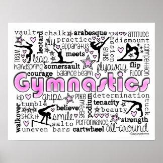 Poster Mots 2 de gymnastique