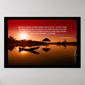 """Poster """"Mots saints"""" : 3h11 d'Ecclesiastes"""