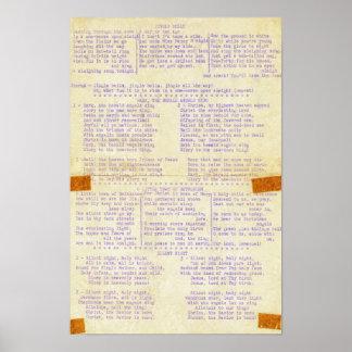Poster Mots vintages de vacances de machine à écrire de