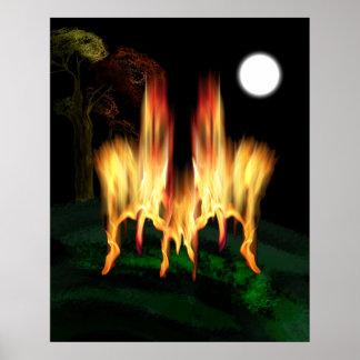 Poster Mouche du feu