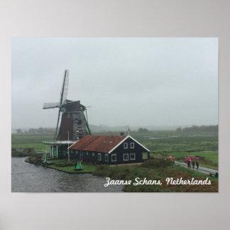 Poster Moulin à vent dans Pays-Bas