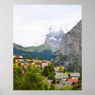 Poster Murren en Suisse