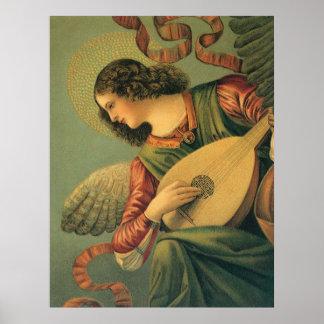 Poster Musicien d'ange, Melozzo DA Forli, art de