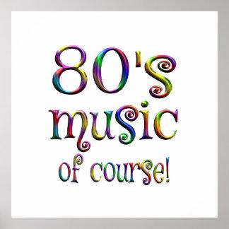 Poster musique 80s de Couse
