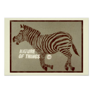 Poster Nature des choses - graphique 1966 de promo