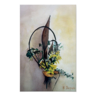 Poster Nature morte de fleurs/Still life of flowers