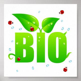 Poster Naturel organique biologique vert