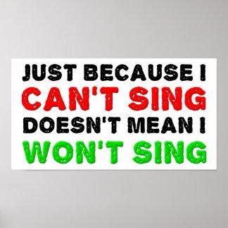 Poster Ne peut pas Sing ne chantera pas l'affiche drôle