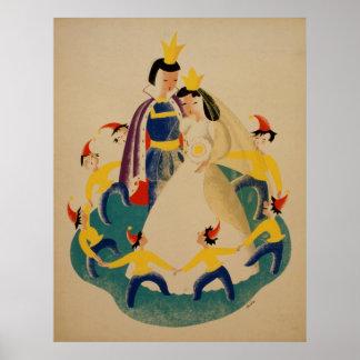 Poster Neige blanche et l'affiche de conte de fées de