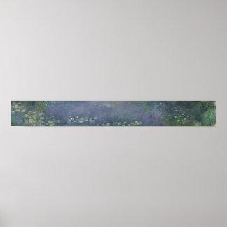 Poster Nénuphars de Claude Monet   : Matin, 1914-18