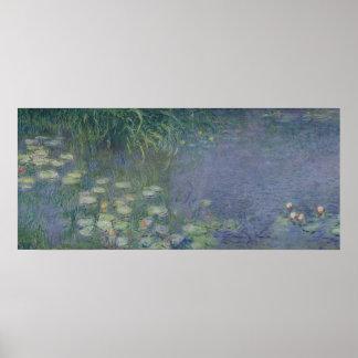 Poster Nénuphars de Claude Monet | : Matin, 1914-18