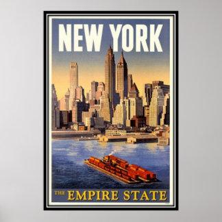 Poster New York City vintage, Etats-Unis -