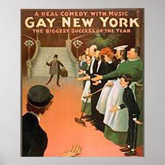 Poster New York gai