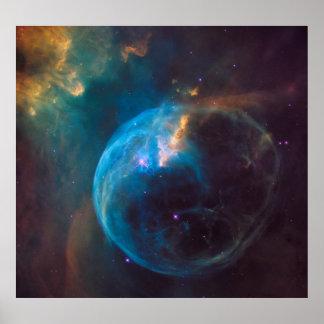 Poster NGC 7635 - La nébuleuse de bulle