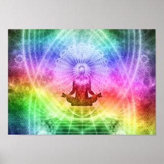 Poster Nirvana bouddhiste de méditation de yoga inspiré
