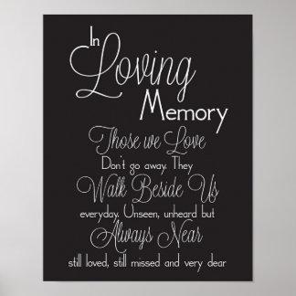 Poster Noir et blanc dans le signe affectueux de mariage