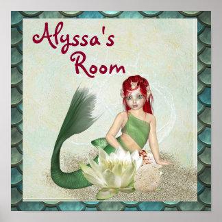 Poster Nom de personnaliser d'affiche de sirène